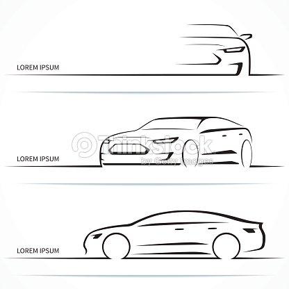 Set Of Luxury Car Silhouettes Vector Illustration Vector Art