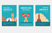 Set of Mexico country ornament travel tour concept. Asian traditional, magazine, book, poster, abstract, element. Vector decorative ethnic greeting card or invitation design
