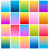 Set of modern colorful gradients for mobile app and website design. Vector.