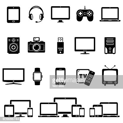 Set of Modern Digital devices icons : Vector Art