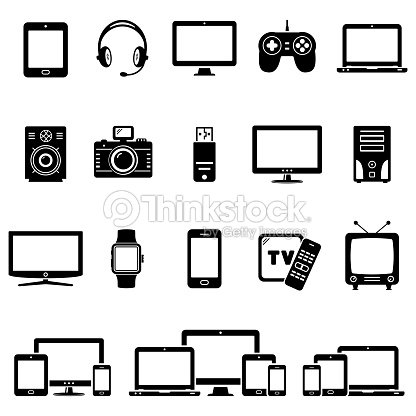 Set of Modern Digital devices icons : stock vector