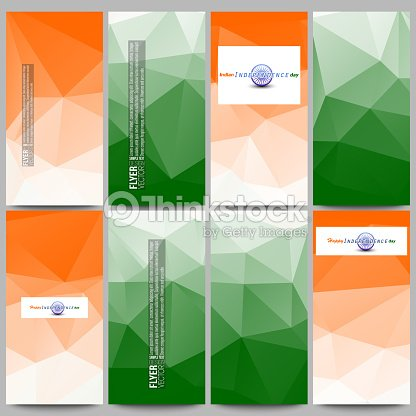 set of modern flyers background for happy indian independence day