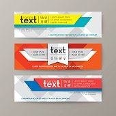 Set of modern design web banners template with colorful abstract background