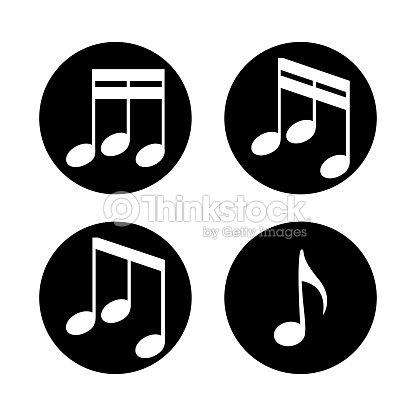 Ensemble De Notes De Musique Sur Fond Blanc Clipart Vectoriel