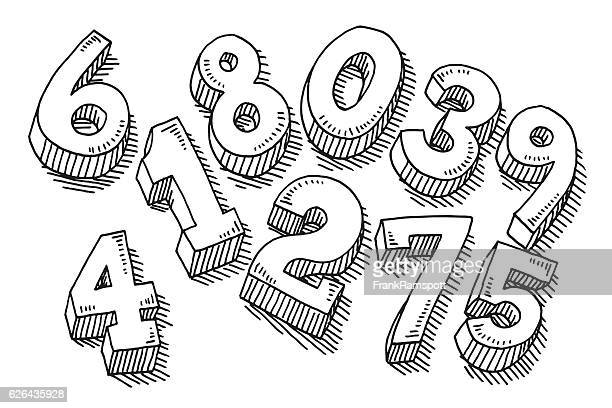 Set Of Numbers Drawing
