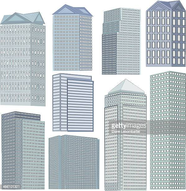 Set Of Office Buildings