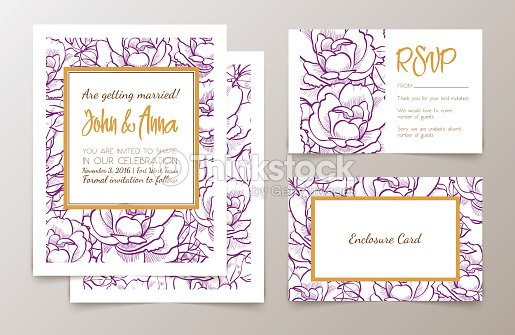 Set of office supplies for weddings invitation vector art thinkstock set of office supplies for weddings invitation vector art stopboris Image collections