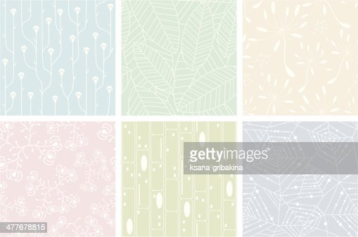 Set of organic patterns : stock vector