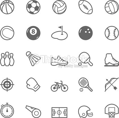 Set of Outline stroke Sport icon