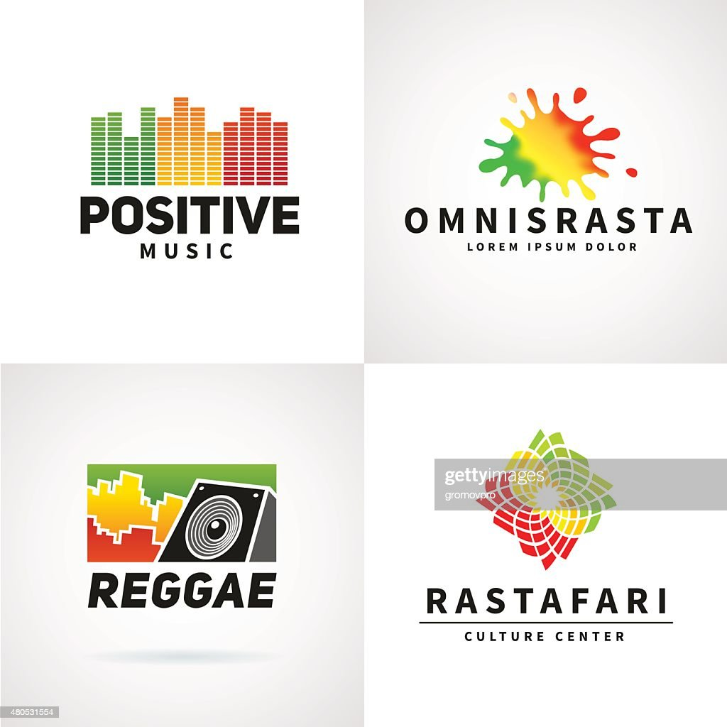 Set of positive africa ephiopia flag icon design. Jamaica reggae : Vectorkunst