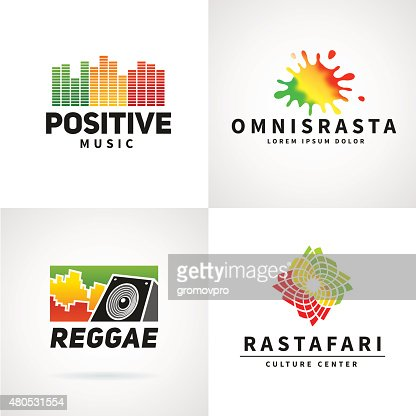 Set of positive africa ephiopia flag icon design. Jamaica reggae : Vector Art