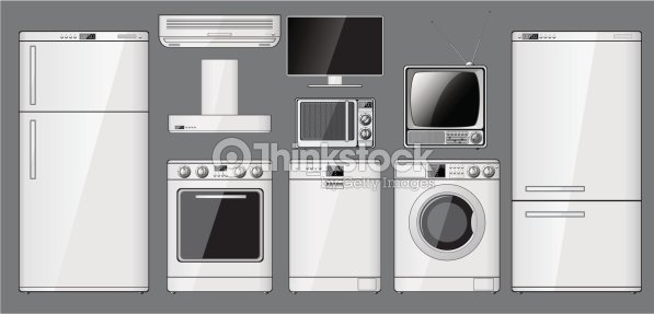 Set of realistic household appliances vector art thinkstock - Home appliances that we thought ...