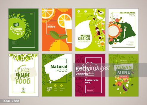 Set of restaurant menu, brochure, flyer design templates in A4 size : stock vector