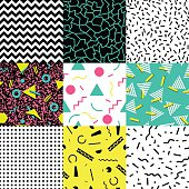 Postmodern style seamless background, vector graphics, eps 10