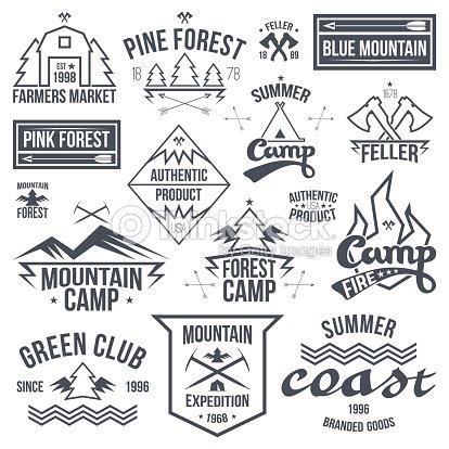 Set Of Retro Vintage Camping Badges stock vector - Thinkstock