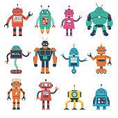 Robot illustration in cartoon style