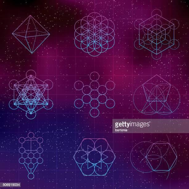Der Heilige Geometrie-Icons Set
