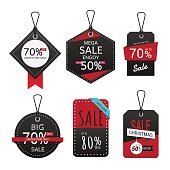 Set of sale banner. Sale Labels, Black friday sale banner, special offer shopping illustration