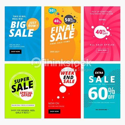 Set of sale website banner templates vector art thinkstock set of sale website banner templates vector art maxwellsz