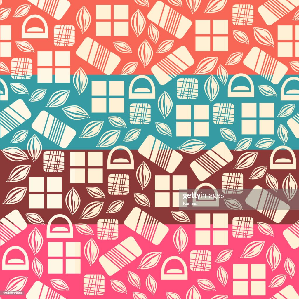 Set of seamless pattern with chocolate sweets : Vector Art