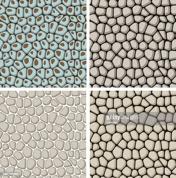 set of seamless stone patterns