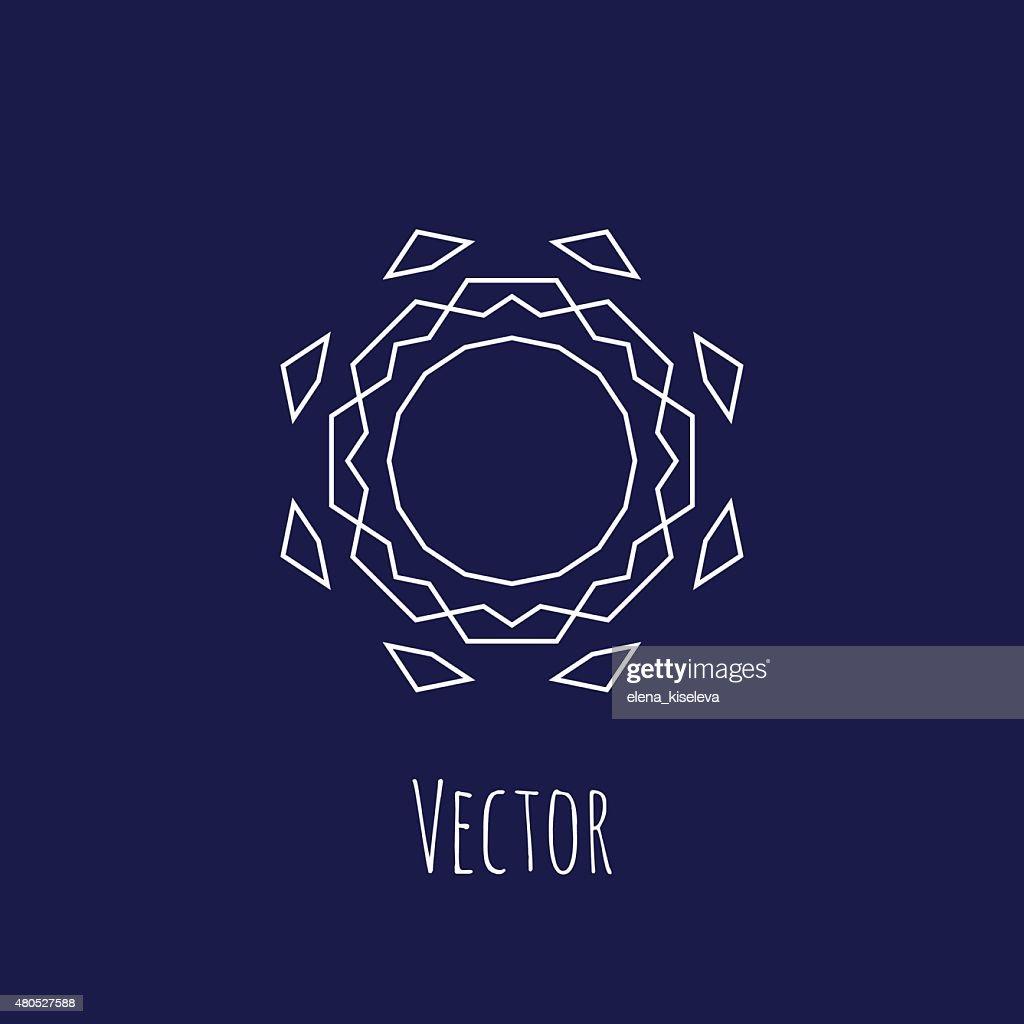 Set of sharp mistical line logos : Vector Art