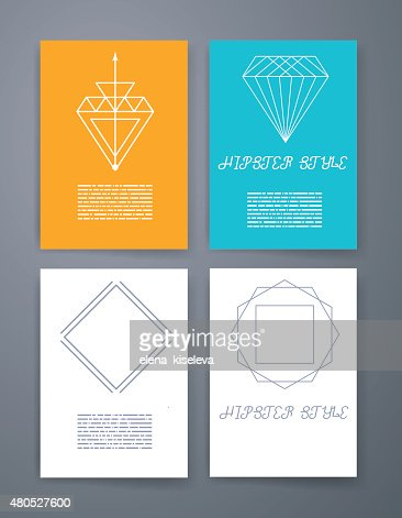 Ensemble de sharp mistical ligne logos : Clipart vectoriel