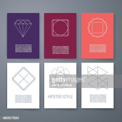 Set of sharp mistical line logos : Vektorgrafik