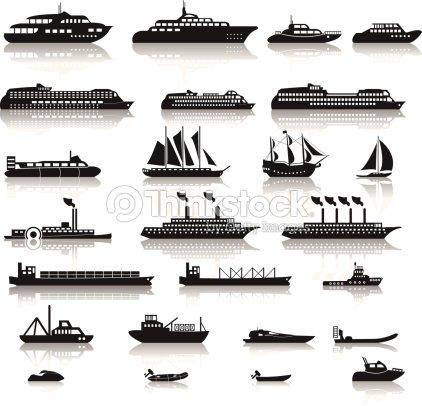 Ensemble De Navires Clipart vectoriel | Thinkstock