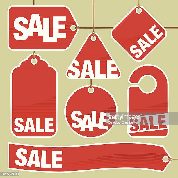 Set of Shopping Sale Tags and Labels