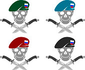 set of sign of special forces of Russia. vector illustration