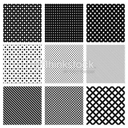 Set Di Semplici Disegni Geometrici Senza Soluzione Di Continuità ...