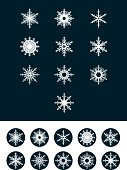 Set of Snowflakes. Design for badges, icons and labels.