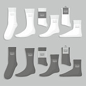 Vector illustration. Mens socks design template