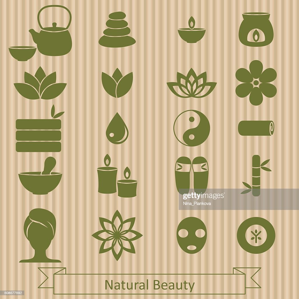 Set of spa icons. : Vector Art