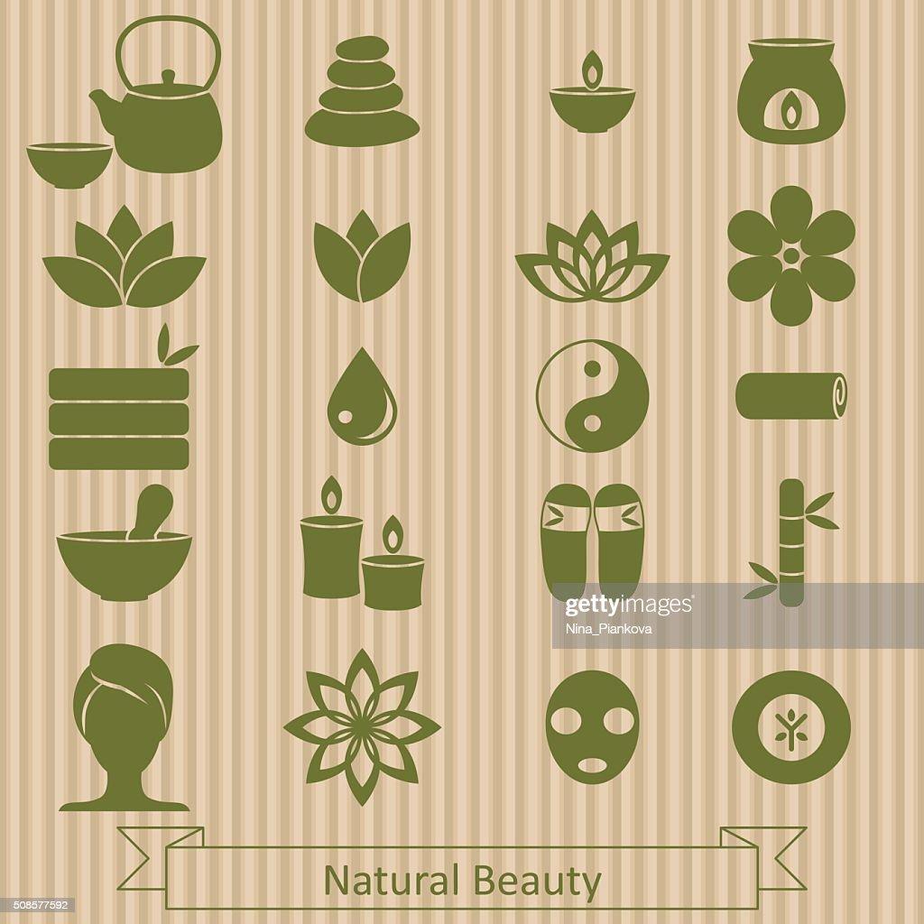 Set of spa icons. : Vektorgrafik