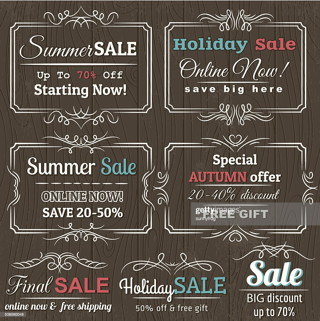 Set of special sale offer labels and banners , vector : Vector Art