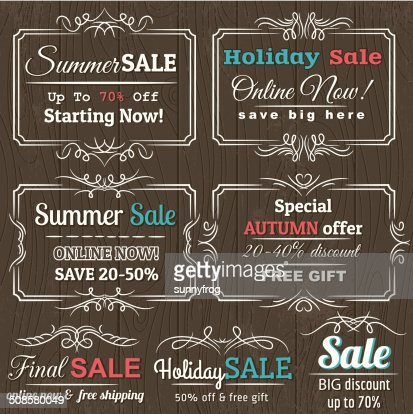Set of special sale offer labels and banners , vector : Vektorgrafik