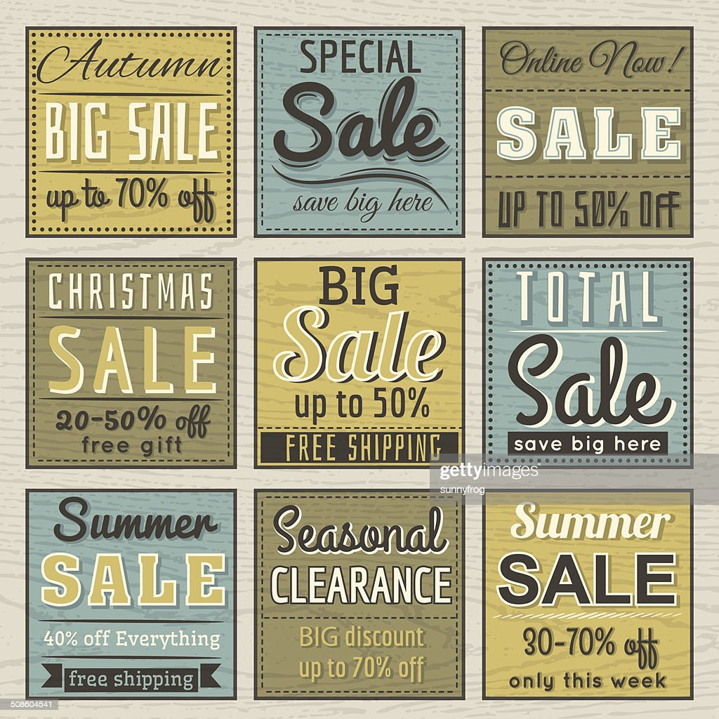 Conjunto de rótulos de oferta de venda especial e banners, Vetor : Arte vetorial