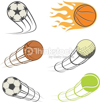 Set of sport balls. football, basketball, Golf, tennis