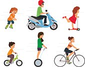 Set of sport characters. Sport and Health. vector