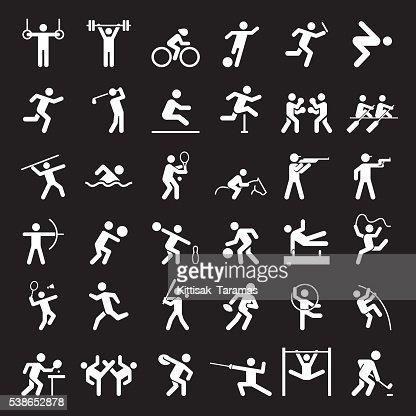 Satz von sport-icons. : Vektorgrafik