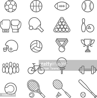 Set of sport icons. : stock vector