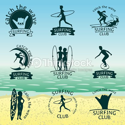 Set of Surfing club s