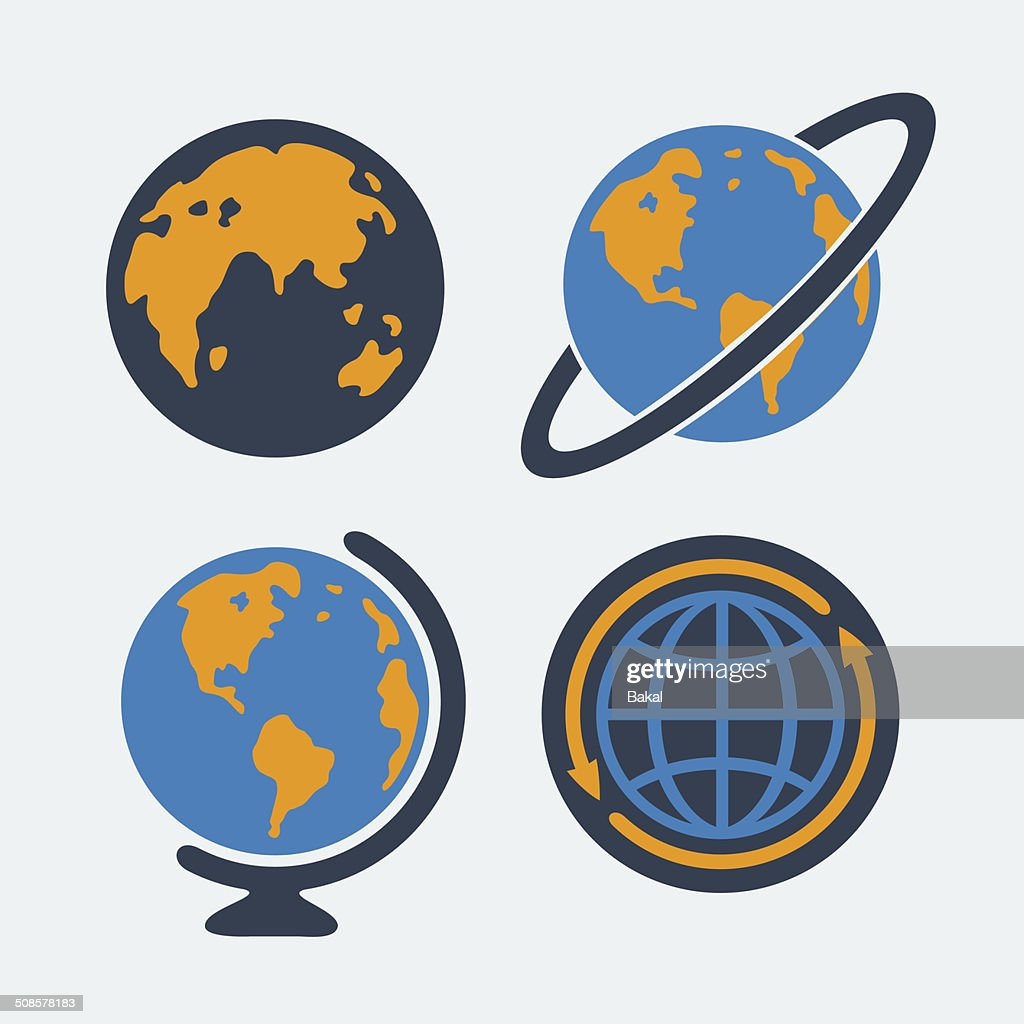 Set of symbols Planet : Vector Art
