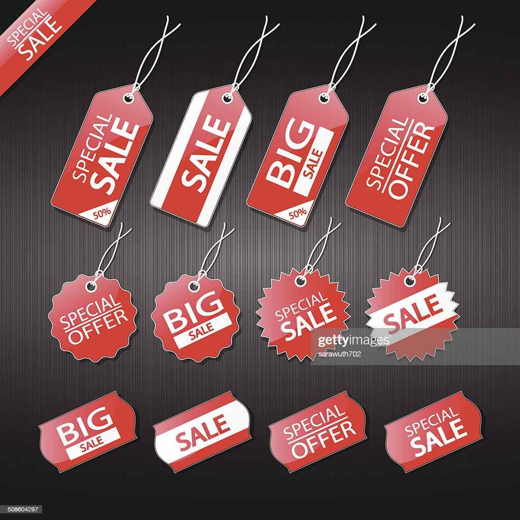 Set of tags for sale. : Vector Art