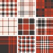 set of tartan seamless pattern, vintage style set 1