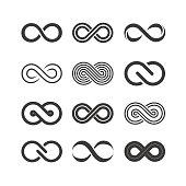 Infinity symbol logos. Vector illustration