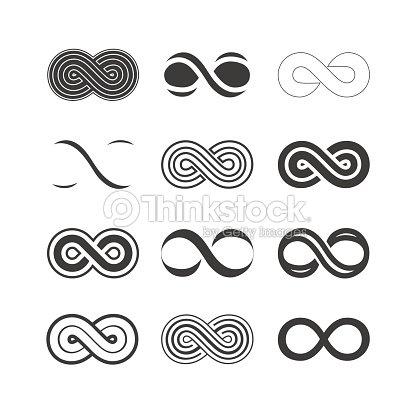 Set Of The Infinity Symbols Vector Art Thinkstock