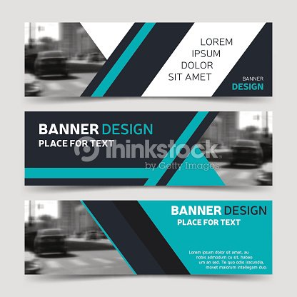 Set of three blue horizontal business banner templates vector art set of three blue horizontal business banner templates vector art wajeb